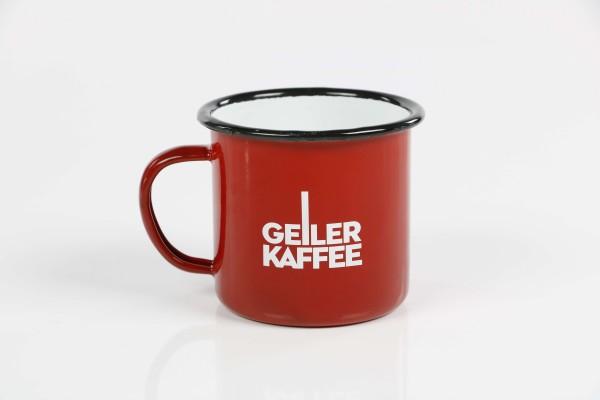 Kaffeebecher GEILER KAFFEE aus Emaille